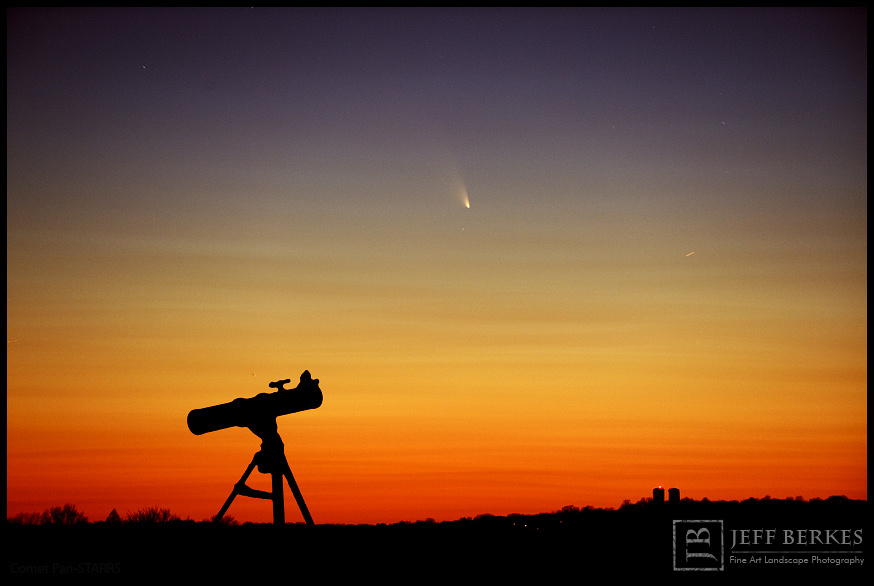 Comet Pan-Starrs and Telescope March 14th, 2013