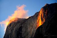 FIRE FALL AND GLOWING CLOUD | YOSEMITE