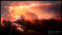 SUNSET LIGHTNING STRIKE