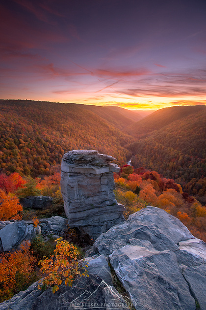 FIERY AUTUMN SUNSET | WEST VIRGINIA