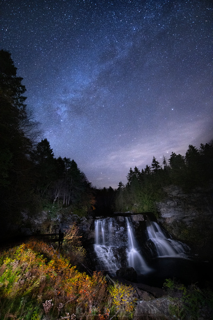WEST VIRGINIA MILKY WAY WATERFALL