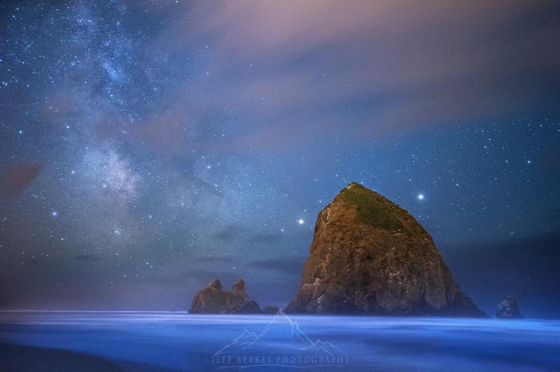 Jeff Berkes Photography Nightscapes Bioluminescent Beach
