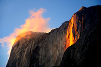 FIRE FALL AND GLOWING CLOUD | YOSEMITE
